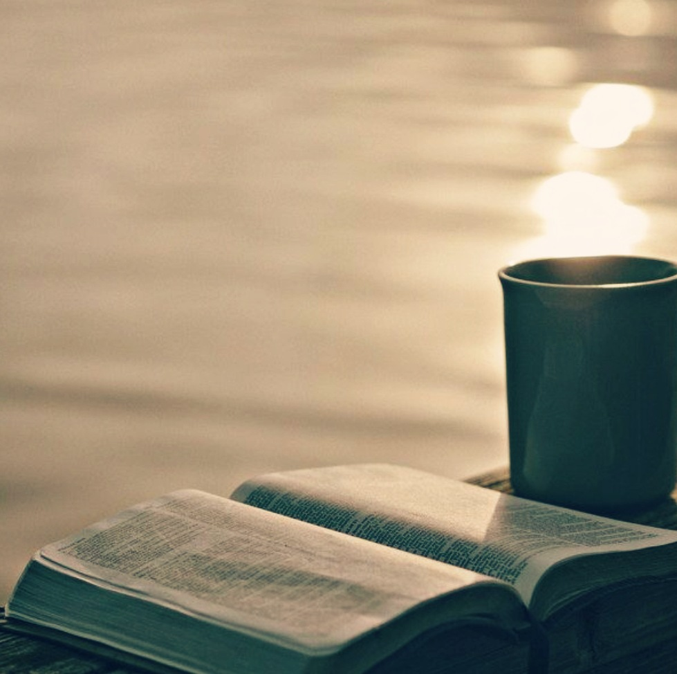 Prayer, coffee, and the Word.